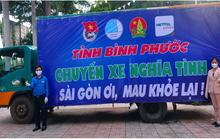 """""""Chuyến xe nghĩa tình"""" từ Bình Phước: """"Sài Gòn ơi, mau khỏe lại"""""""