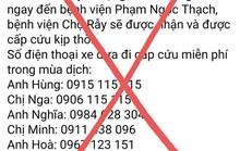 Sự thật về 8 số điện thoại hỗ trợ cấp cứu bệnh nhân Covid-19 ở TP HCM