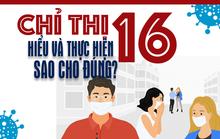 [Infographic] Thực hiện Chỉ thị 16 về giãn cách xã hội sao cho đúng?