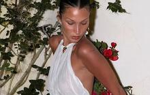 Siêu mẫu Bella Hadid quyến rũ trong đầm trắng xuyên thấu