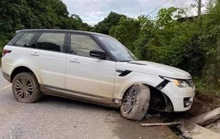 Giang hồ mạng Huấn Hoa Hồng lái xe Range Rover gặp nạn