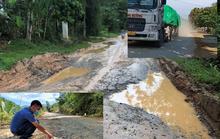 CLIP: Xe tải trọng lớn băm nát đường tỉnh lộ ở Thanh Hóa