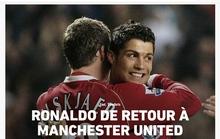 Ronaldo tái hợp Man United: Truyền thông thế giới việt vị, trang chủ Quỷ đỏ sập nguồn