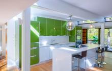 Vì sao bếp màu xanh lá thành mốt
