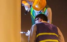 CLIP: Hàng chục công nhân xuyên đêm tu sửa hầm Kim Liên