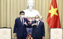 Chủ tịch nước Nguyễn Xuân Phúc tiếp Bộ trưởng Quốc phòng Nhật Bản
