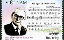 Phát hành bộ tem 100 năm ngày sinh nhạc sĩ Lưu Hữu Phước