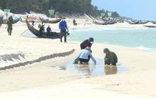 Phát hiện thêm dầu lạ dày đặc dọc bờ biển Quảng Bình