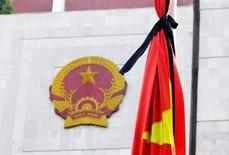 Các cơ quan, công sở treo cờ rủ trong 2 ngày quốc tang