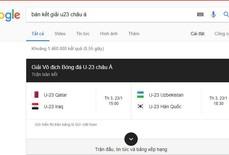 Google không tin U23 Việt Nam vào bán kết