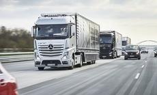 Xe tải tự lái của Mercedes đã chạy trên đường ở châu Âu