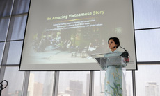 Bà Lê Hoàng Diệp Thảo khẳng định tiếng nói của cà phê Việt Nam trên diễn đàn CEO toàn cầu