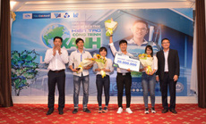 """Nhóm sinh viên Đại học Bách khoa đạt giải nhất cuộc thi """"Kiến tạo công trình xanh"""""""
