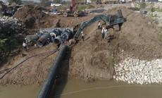 Nhà máy nước mặt sông Đuống hạ thủy thành công tuyến ống qua sông