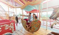 Người lớn, trẻ con mê tít không gian trung thu đẹp như cổ tích tại Sun World Halong Complex
