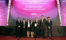 BIDV nhận giải Ngân hàng Bán lẻ tốt nhất Việt Nam 5 năm liên tiếp