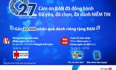 Ngân hàng Bản Việt tung hàng ngàn ưu đãi, 20.000 phần quà dịp sinh nhật