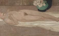 Cận cảnh bức tranh khỏa thân giá triệu USD của họa sĩ Lê Phổ