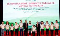 Học bổng Lawrence S. Ting tiếp sức gần 8,5 tỉ đồng cho học sinh - sinh viên giỏi, vượt khó
