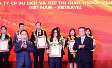 Vietravel 3 năm liên tiếp dẫn đầu Top 10 Công ty uy tín ngành Du lịch - Lữ hành