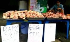 """Thịt heo đông lạnh giá """"siêu rẻ"""" xuống đường"""