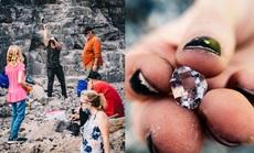 Nơi du khách đến để đào kim cương