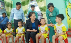 Chủ tịch QH Nguyễn Thị Kim Ngân dự khánh thành Trường Mẫu giáo Sơn Ca