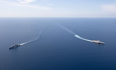Mỹ-Singapore tập trận trên biển Đông