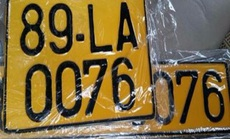 Xe kinh doanh vận tải dùng biển kiểm soát màu vàng từ 1-8