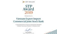 Bank of New York Mellon trao giải STP Award cho Eximbank