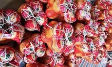 Bưởi Trung Quốc ruột đỏ au, vỏ vàng không hạt, ngày bán cả tấn