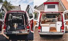 """""""Ngôi nhà ấm áp"""" được cải tạo từ chiếc xe Volkswagen T4 Transporter"""