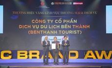 BenThanh Tourist nhận giải Thương hiệu Vàng TP HCM