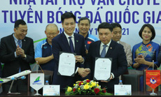 Các đội tuyển bóng đá Quốc gia Việt Nam có nhà tài trợ vận chuyển đường không