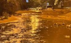 Lũ bùn đỏ tràn ngập tuyến đường du lịch Mũi Né