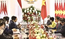 Chùm ảnh: Thủ tướng Phạm Minh Chính gặp song phương Tổng thống Indonesia