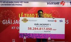 Mua vé Vietlott tại Vinmart+, trúng giải Jackpot 1 hơn 58 tỉ đồng