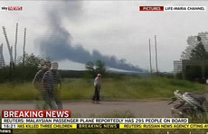 Máy bay chở khách Malaysia 'bị bắn hạ' ở Ukraine, 295 người thiệt mạng