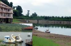 Đại gia mắc cạn, tàn tạ ở Hồ Tiên Sa