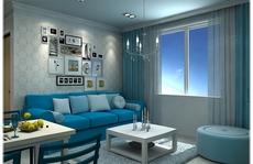 Căn hộ chung cư với màu xanh tươi mát