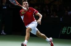 Wawrinka bại trận ở Davis Cup, Thụy Sĩ chật vật cầm hòa Kazakhstan