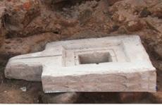 Tìm thấy cổ vật Yoni ở tháp Chăm Ninh Thuận