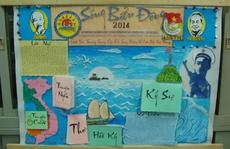 """""""Sóng Biển Đông"""" đạt giải nhất hội thi làm báo tường"""