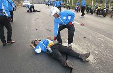 VĐV mô tô tử nạn khi bảo vệ đoàn đua ở Đồng Nai