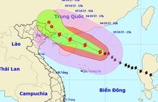 Bão số 4 đã bất ngờ giật cấp 13-14 trên Biển Đông