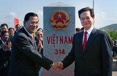 Khởi công xây 2 cột mốc biên giới Việt Nam - Campuchia