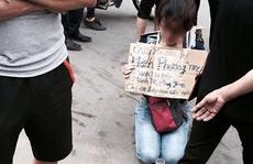 Uẩn khúc vụ phụ nữ trẻ quỳ xin được bán trà đá nuôi con