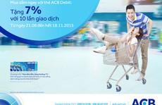 Ngân hàng tặng chủ thẻ ghi nợ 7% tiền mặt