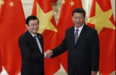 Chủ tịch nước Trương Tấn Sang gặp Chủ tịch Tập Cận Bình