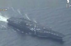 Máy bay Iran lượn trên tàu sân bay Mỹ